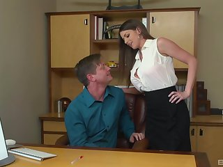 Brooklyn Chase adores plucky orgasm and her associates demon rum on her light