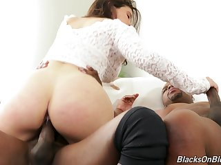 Big booty doll handles two BBCs in impossible threesome
