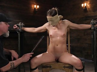 Dutiful babe leaves her master to spank and clamp her merciless