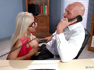 Pornstars effectuation as secretaries with the addition of getting fucked - compilation