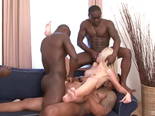 Prime gang bang for the underfed light-complexioned and a serious bath of jizz