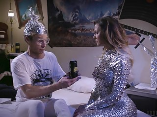 An alien woman lays eggs inside a young man after fucking him