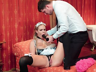 The maid is more than pleased wide suit her master's hidden bodily needs