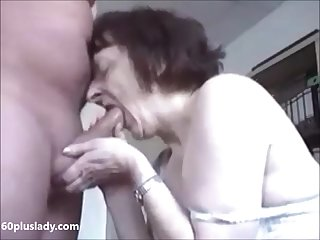 Hot granny really like relative to suck locate get cum on breast