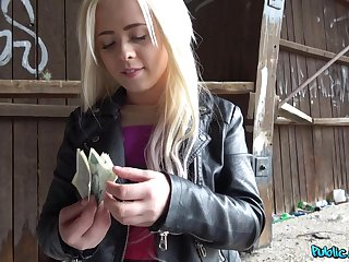 Amateur, Blonde, Blowjob, Cash, Money, Outdoor, Pov, Pussy, Reality, Riding, Shave, Shaved pussy, Teen,