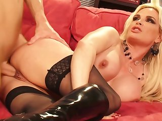 Big tits, Blonde, Stockings, Tits,