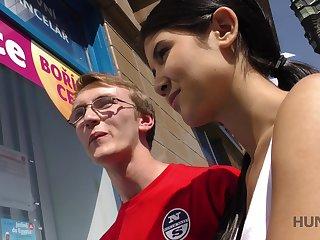 Nerd guy in glasses gets cucked for savings