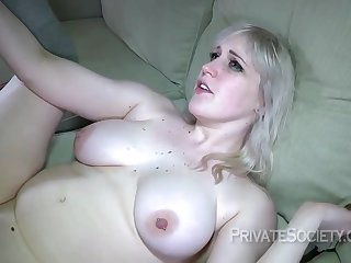 Busty blonde slut, Kiki Parker is eager forth have anal sex, catch unprepared her husbands best friend