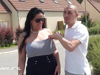 Plumper Amateur Sexual intercourse French Arab With Huge tits outdoor