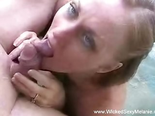 Horny  Wicked Sexy Melanie and she is such a hot swinger slut too