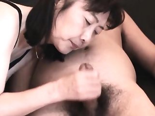 Chie loves sucking cock, 50's matured instructor teacher