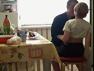 Naughty Russian teen stands on knees as A she wanna suck comfit cock