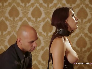 Gagged redhead plays submissive till such time as the end