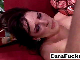 Dana gets her asshole fucked deep and shares his cum