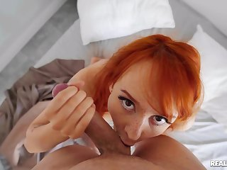 POV with a ginger that's thirsty to swallow time again